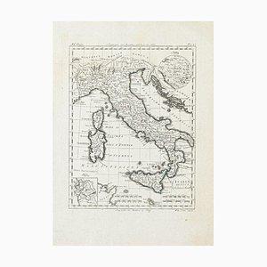 Antike Karte von Italien - Original Radierung - 19. Jahrhundert 19. Jahrhundert