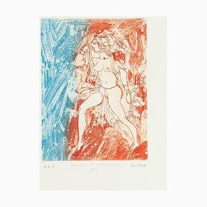 Atlantic Girl - Original Etching by Sergio Barletta - 1980s 1980s