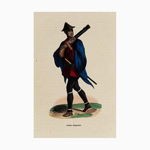 Soldier - Original Lithograph - 19th Century 19th century