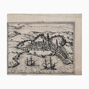 Map of Safi - Original Etching by George Braun - Late 16th Century Late 16th Century