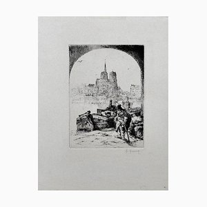 Paris - Original Etching by Auguste Brouet - Early 20th Century Early 20th Century