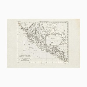 Ancient Map of Mexico - Original Etching - 19th Century 19th Century