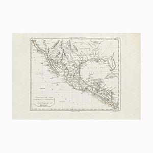 Antike Karte von Mexiko - Original Radierung - 19. Jahrhundert 19. Jahrhundert