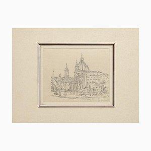 Navona Square - Original Artwork by Ildebrando Urbani - Mid 20th Century Mid 20th Century
