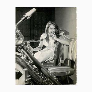 Dalida - Stampa fotografica vintage di Ledino Pozzetti - anni '60