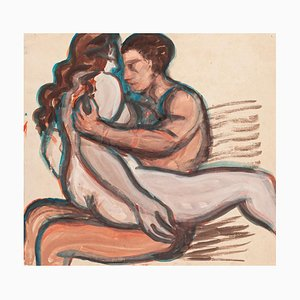 Lovers - Original Aquarell - ca. 1950 Ca. 1950