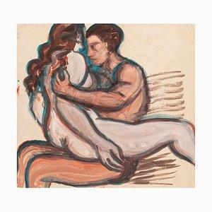 Lovers - Original Watercolor - 1950 ca. 1950 env.