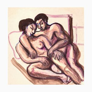 Lovers - Original Watercolor - 1950 ca. 1950 ca.