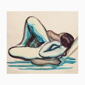 Lovers - Original Aquarell - ca. 1950 Ca. 1950