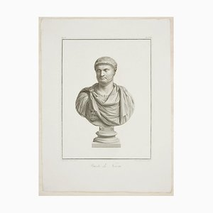 Bust of Nero - Original Etching by P. Fontana After B. Nocchi - 1821 1821