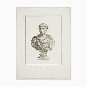 Bust of Nero - Original Radierung von P. Fontana After B. Nocchi - 1821 1821