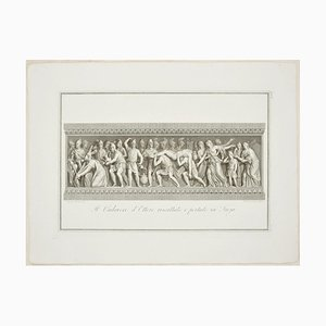 The Body of Hector Brought Back to Troy - Etching by F. Cecchini 1821