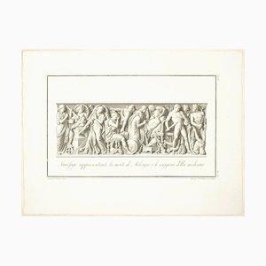 The Death of Meleagro - Origina Etching by Giovanni Foto Veneto - 1821 1821