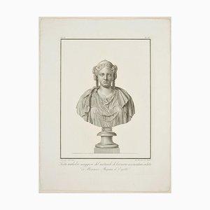 Gravure à l'Eau-Forte de Femme originale par Giovanni Brunetti da Ravenna 1821