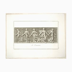 The Dancers - Original Radierung von L. Cunego After B. Nocchi 1821