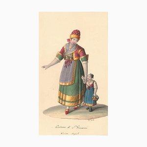 Costume di San Giovanni - Aquarell von M. De Vito - ca. 1820 1820 ca