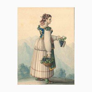 Costume di Capri - Watercolor by M. De Vito - 1820 ca. 1820 c.a.