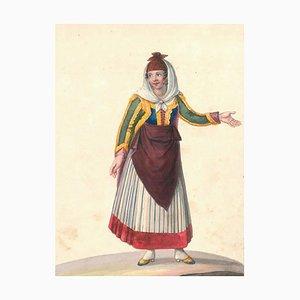 Costume di Procida - Watercolor by M. De Vito - 1820 ca. 1820 c.a.