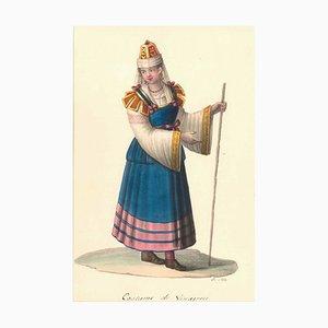 Costume di Sinagreci - Watercolor by M. De Vito - 1820 ca. 1820 c.a.