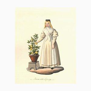 Monaca della Sapienza - Aquarell von M. De Vito - ca. 1820 1820 ca