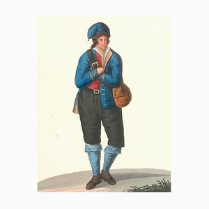 Costume di Zaccanopoli - Aquarell von M. De Vito - 1820 1820 ca