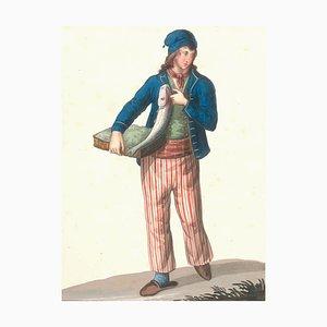 Costume di Castellone - Aquarell von M. De Vito - 1820 1820 ca