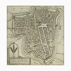 Ypra, Map from ''Civitates Orbis Terrarum'' - by F. Hogenberg - 1575 1575