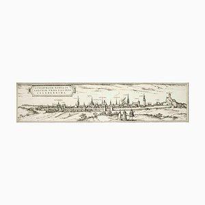 Luneburg, Karte von '' Civitates Orbis Terrarum '' - von F.Hogenberg - 1575 1575