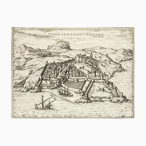 Tangiaria (Tanger), Map from ''Civitates Orbis Terrarum''-by F. Hogenberg - 1575 1575