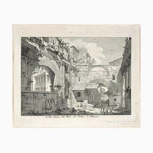 La Veduta interna dell'Atrio del Portico d'Ottavia - Etching After G.B. Piranesi Late 18th Century