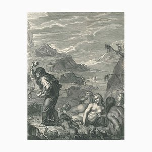 Deucalion et Pyrrha, aus '' Temple des Muses '' - Radierung von B. Picart - 1742 1742