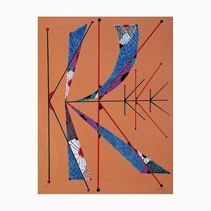 Buchstabe K - Original Lithographie von Raphael Alberti - 1972 1972