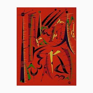 Letter I - Original Lithograph by Raphael Alberti - 1972 1972