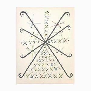 Letter X - Original Lithograph by Raphael Alberti - 1972 1972