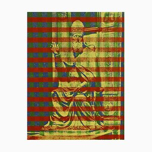 Pope on the throne I - Original Screen Print by Costantino Persiani - 1970s 1970s