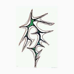 Trama Con Verde - Original Lithograph by Nino Franchina - 1973 1973