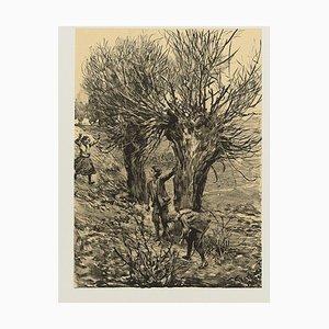 Spielende Kinder - Original Lithograph by Franz Skarbina - 1905 1905