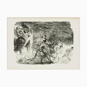 Entwurf zu Kleist's Penthesilea - Original Lithographie von M- Slevogt - 1904/5 1904/5