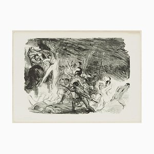 Entwurf zu Kleist's Penthesilea - Original Lithograph by M- Slevogt - 1904/5 1904/5