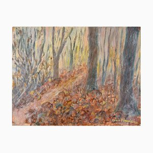 Peinture à l'Huile In the Woods par Lucie Navier - 1931 1931