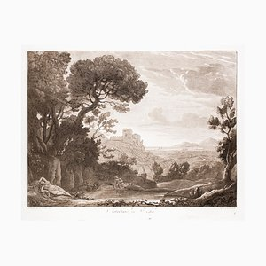 Narciso and Echo - Original B/W Etching after Claude Lorrain - 1815 1815