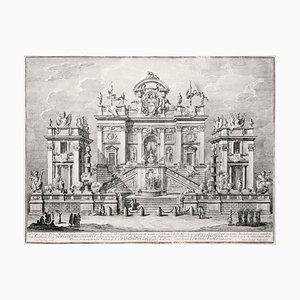 Campidoglio Festivamente Ornato - Original Etching by Giuseppe Vasi - 1775 1775