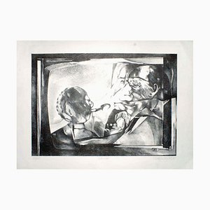 The Interview - Original Lithograph by C. Rickert - 1971 1971