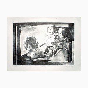 The Interview - Original Lithographie von C. Rickert - 1971 1971