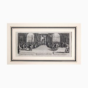 La distribution des récompenses - Original Etching by Jacques Callot - 1633 1633