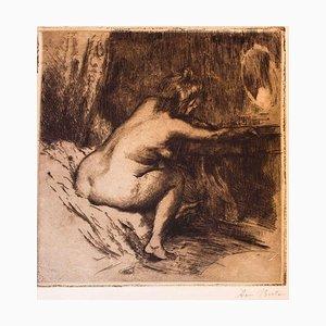 Woman at the Mirror - Original Radierung von Armand Breton - 1920 1920