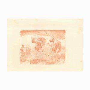 Springende Mädchen - Original Lithograph by L. von Hoffmann - 1904/05 1904/05