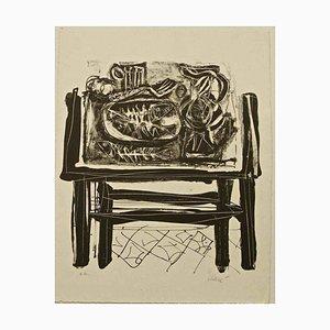 Tisch Banned - Original Lithographie von Antoni Clavé - 1970er 1970er Jahre