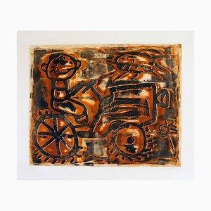 Farmer - Original Lithograph by Renzo Bussotti - 1963 1963