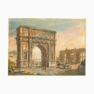 Triumphal Arches - Original Lithographs and Watercolors - Mid 19th Century Mid 1800